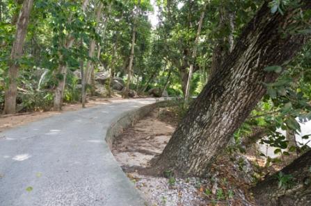 Hauptstraße auf La Digue