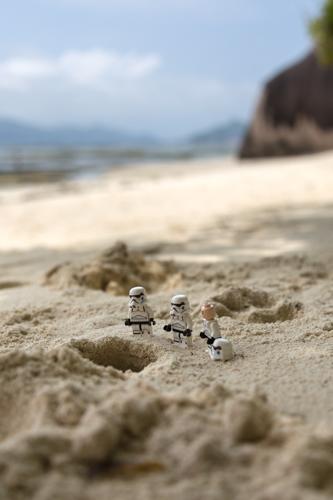 Stormtrooper warten auf eine Krabbe