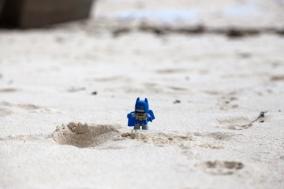 vor Batman hat sie keine Angst